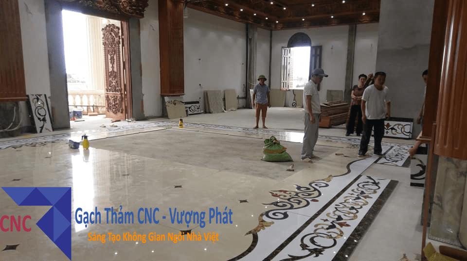 Hình Ảnh một trong những dự án thi công tại biệt thự Ninh Bình - CNC Vượng Phát