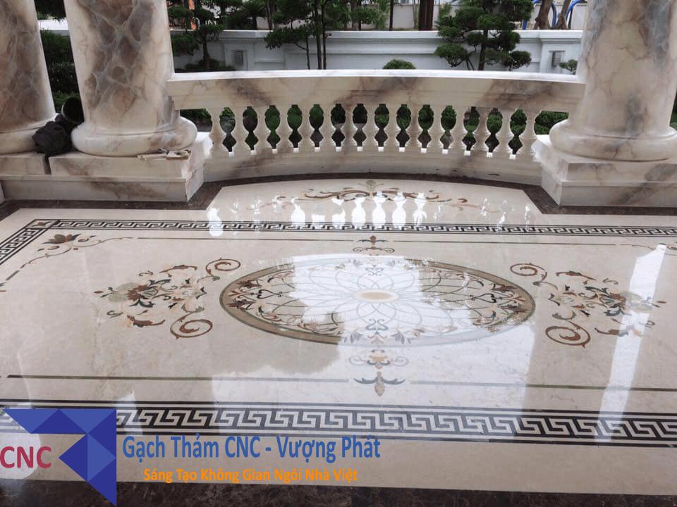 Thi công thực tế mẫu gạch cắt cnc tại Ninh Bình