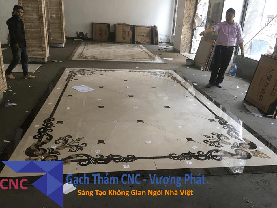 Một trong những mẫu gạch thảm đã thi công của CNC Vượng Phát