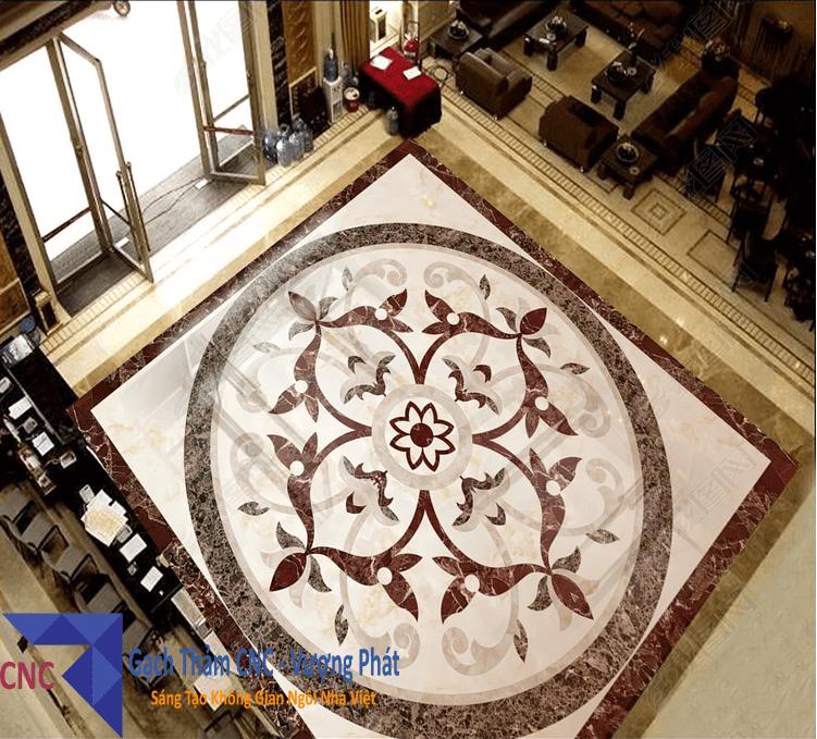 Gạch thảm trang trí phóng khách
