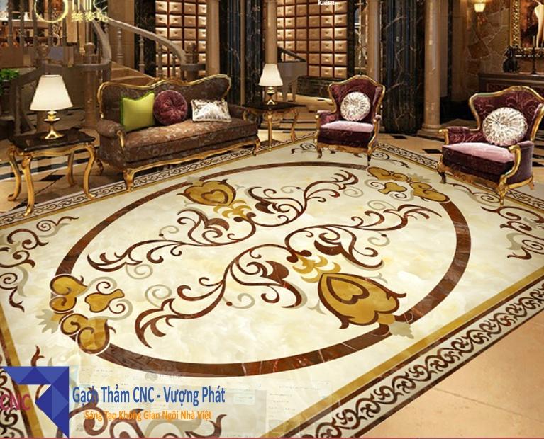 Gạch thảm trang trí phòng khách giá rẻ