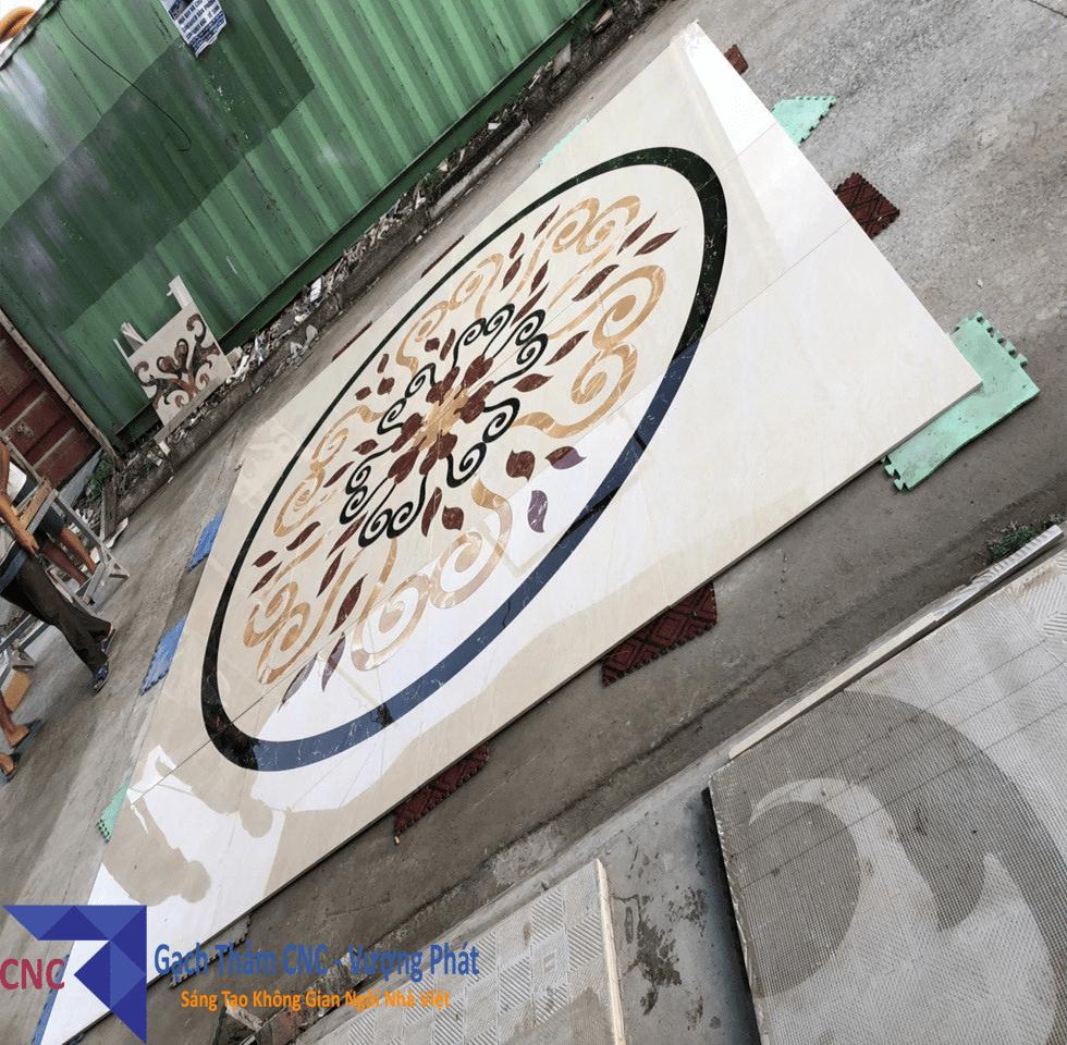 Hình ảnh thực tế tại xưởng gạch thảm CNC Vượng Phát