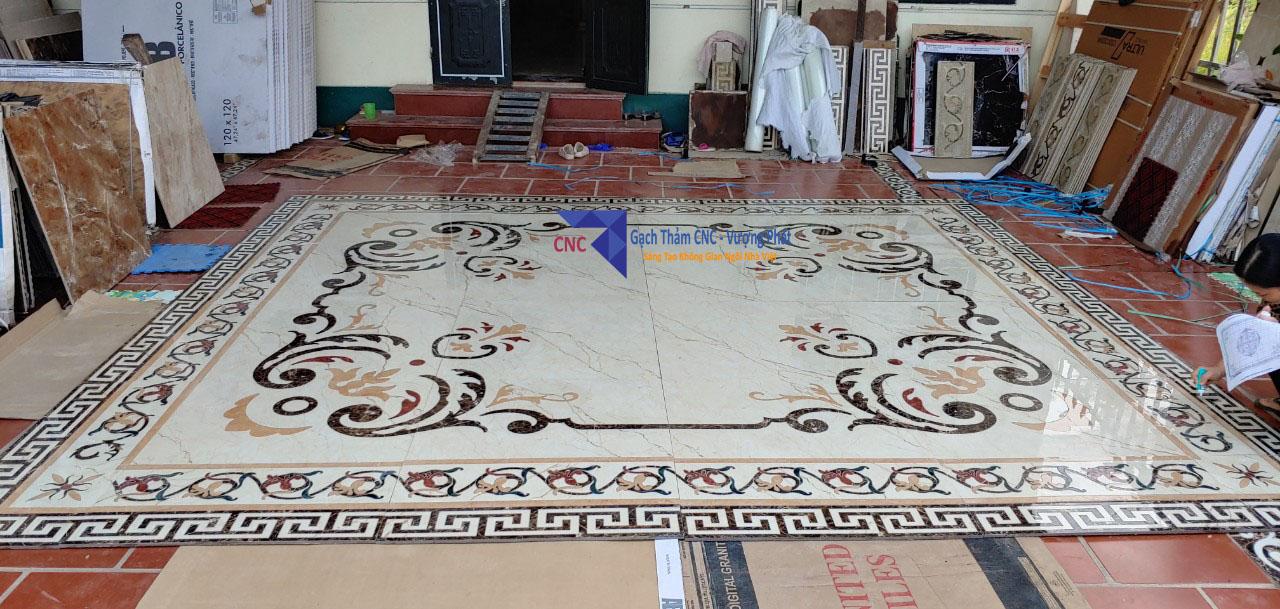 Thảm gạch trải sàn