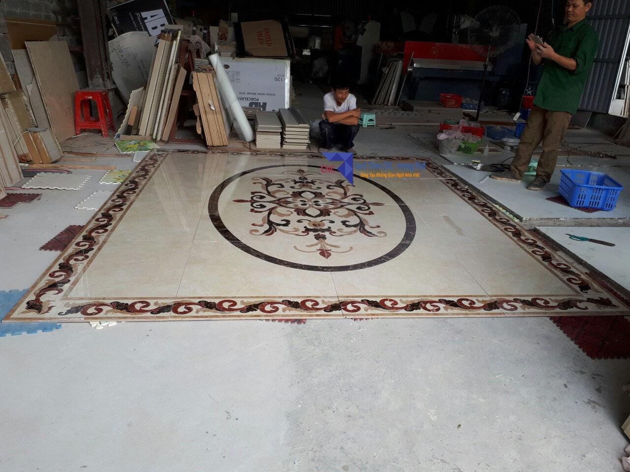 Mẫu gạch thảm CNC