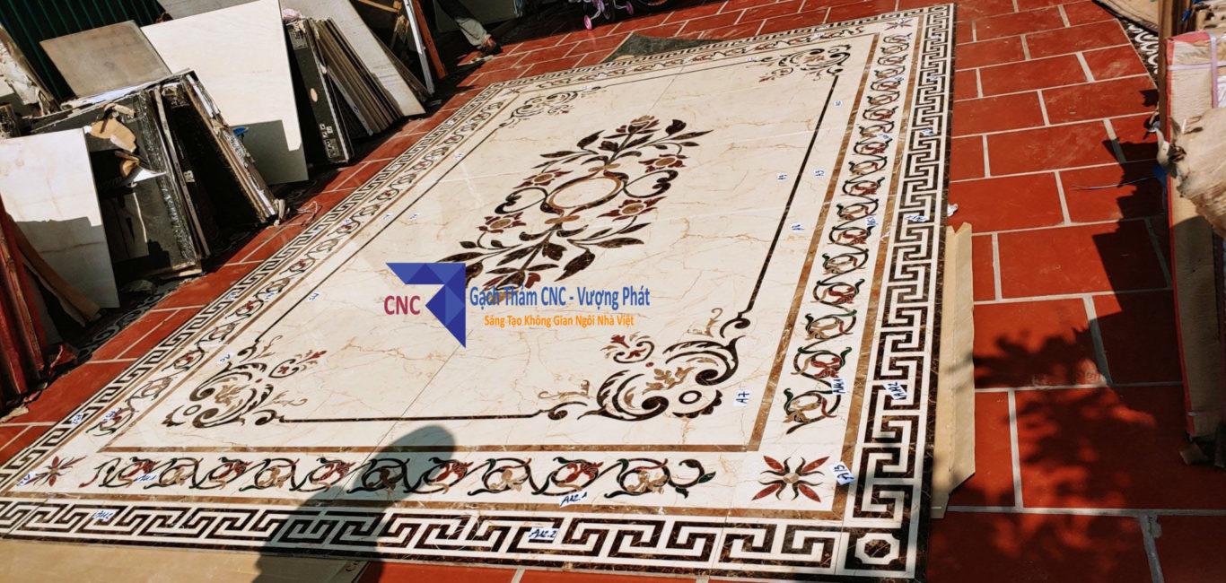 Mẫu gạch thảm trang trí hình chữ nhật