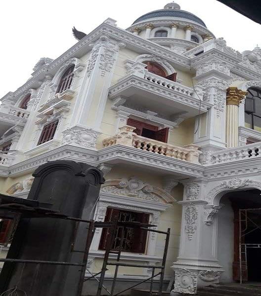 Lâu đài thi công gạch thảm tại tỉnh Nghệ An