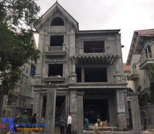 Khảo sát thực tế gạch thảm nhà anh Sơn tại khu biệt thự Hoài Đức TP.Hà Nội