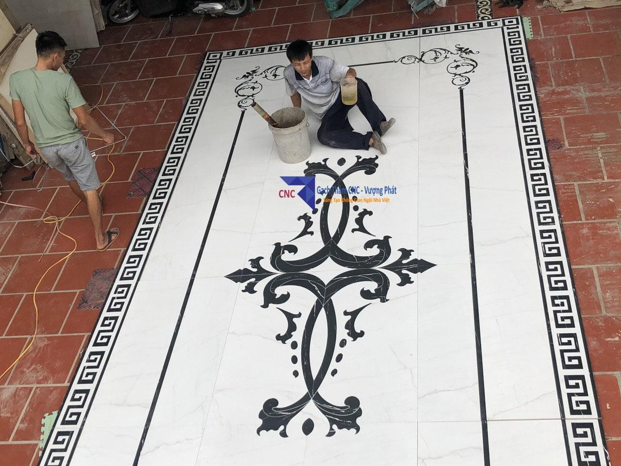 Gạch thảm trang trí lát nền