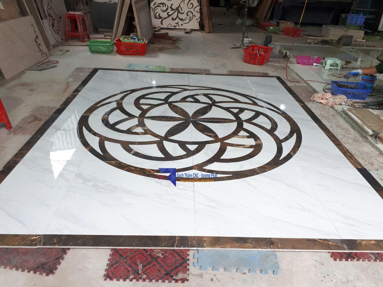 Gạch thảm tròn