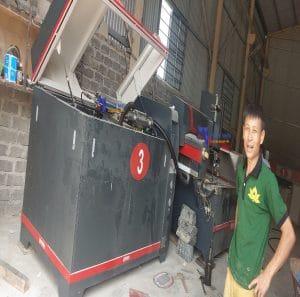 Lắp đặt máy cắt gạch tia nước CNC 5 trục – Ảnh thực tế ngày 26-05-2020